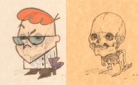 Esqueleto Dibujo Animado Esqueletos de Dibujos Animados