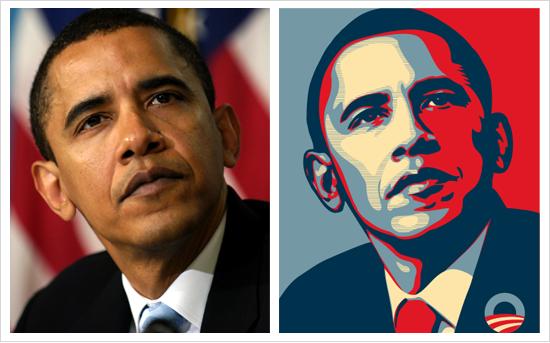 Obama Hope Poster Original Photo Famous Obama Hope Poster